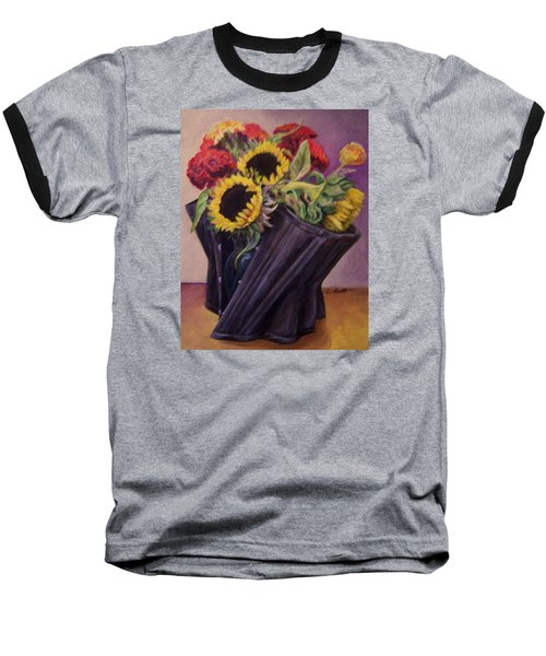 Baseball T-Shirt featuring the painting September Cincher by Laura Aceto