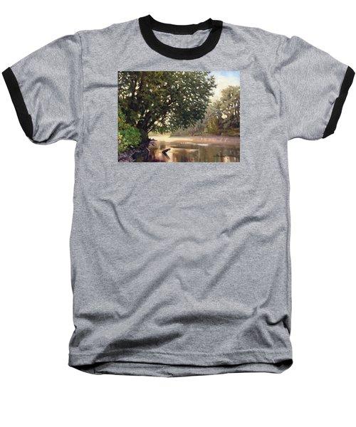 September Dawn Little Sioux River - Plein Air Baseball T-Shirt by Bruce Morrison