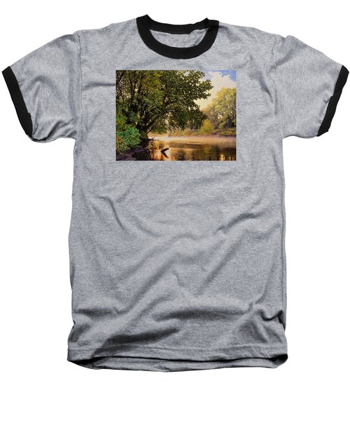 September Dawn, Little Sioux River - Studio Painting Baseball T-Shirt