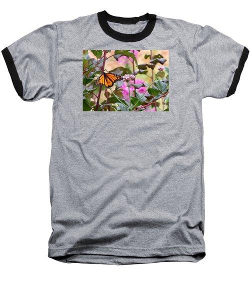 September Monarch Baseball T-Shirt by Janis Nussbaum Senungetuk