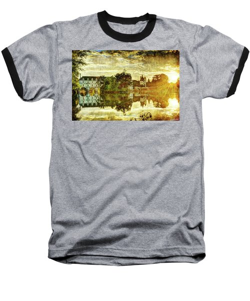 September Sunset In Chenonceau - Vintage Version Baseball T-Shirt