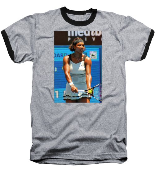 Serena Williams Baseball T-Shirt by Andrei SKY
