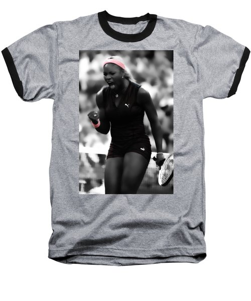 Serena Williams On Fire Baseball T-Shirt