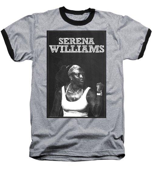 Serena Williams Baseball T-Shirt by Semih Yurdabak