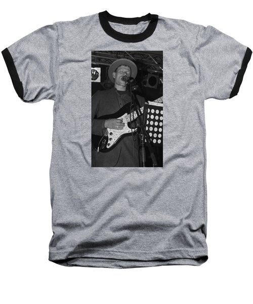 Serenading Guitar Man Baseball T-Shirt