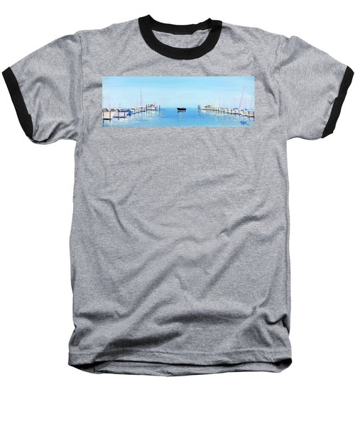 Serene Atlantic Highlands Marina Baseball T-Shirt