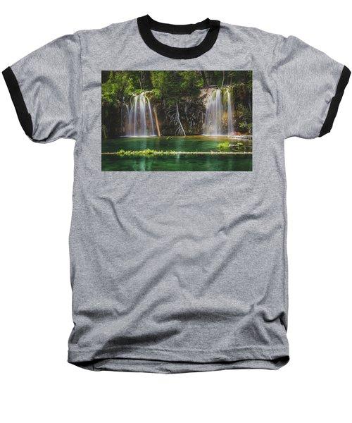 Serene Hanging Lake Waterfalls Baseball T-Shirt