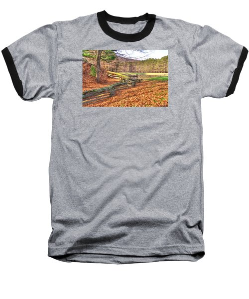 Baseball T-Shirt featuring the photograph Serene Lake by Gordon Elwell
