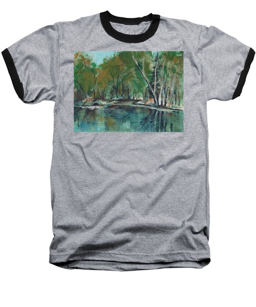 Serene Baseball T-Shirt by Lee Beuther
