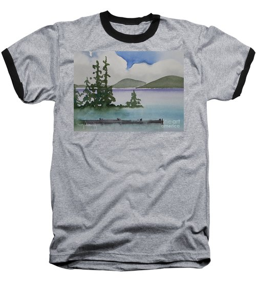 Serene Morning On Lake Superior Baseball T-Shirt
