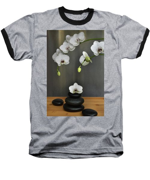 Baseball T-Shirt featuring the photograph Serene Orchid by Terence Davis
