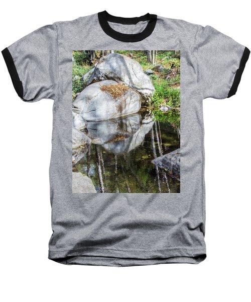 Serene Reflections Baseball T-Shirt by Ed Clark