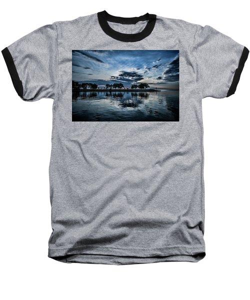 Serene Summer Water And Clouds Baseball T-Shirt