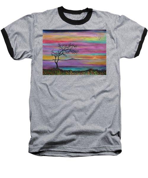Serene Sunset Baseball T-Shirt