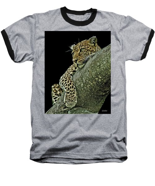 Serengeti Leopard 2a Baseball T-Shirt