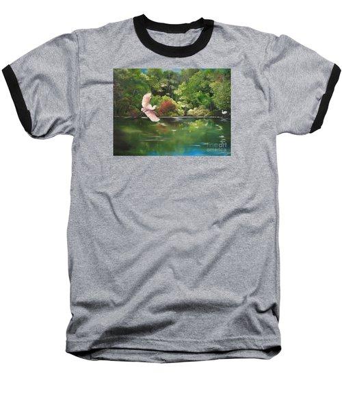 Serenity Baseball T-Shirt by Carol Sweetwood