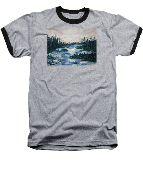 Baseball T-Shirt featuring the painting Serenity IIi by Ellen Levinson