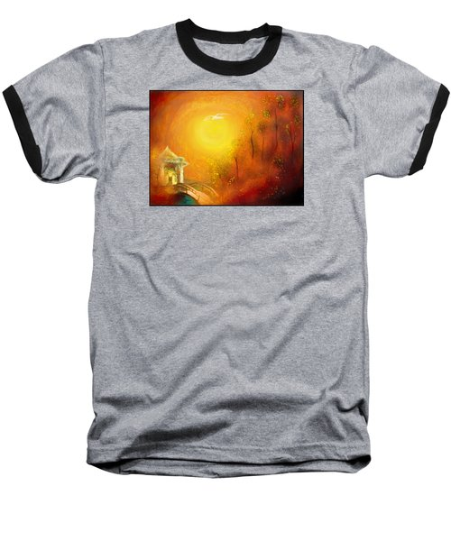 Baseball T-Shirt featuring the painting Serenity by Michael Cleere