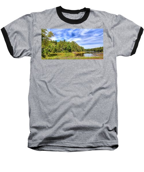 Baseball T-Shirt featuring the photograph Serenity On Bald Mountain Pond by David Patterson