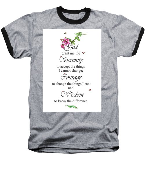 Serenity Prayer Baseball T-Shirt