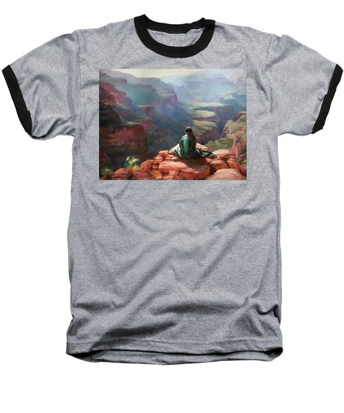 Baseball T-Shirt featuring the painting Serenity by Steve Henderson