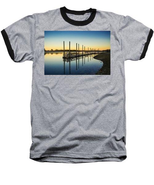 Serenity Sunset Kings Park New York Baseball T-Shirt
