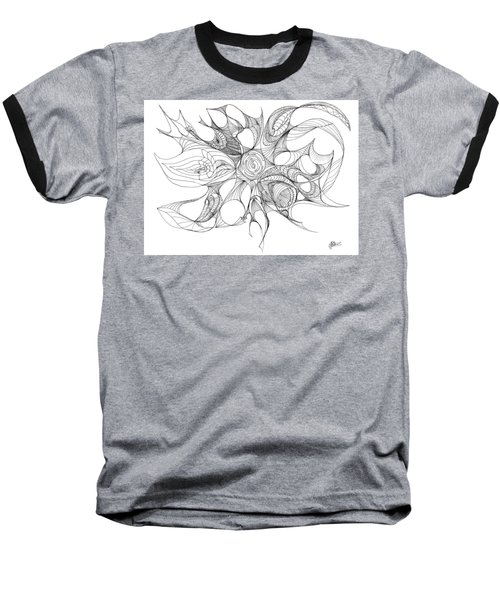 Serenity Swirled Baseball T-Shirt by Charles Cater