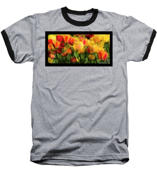 Baseball T-Shirt featuring the photograph Seriously Spring - Bordered by Wendy Wilton