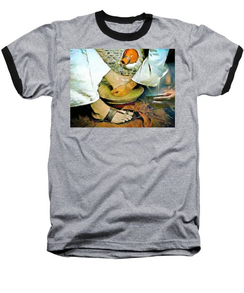 Serving One Another Baseball T-Shirt by Wayne Pascall