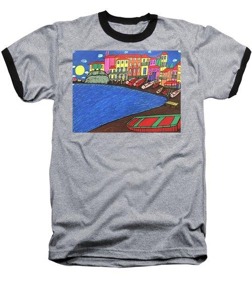 Sestri Levante Italy Baseball T-Shirt