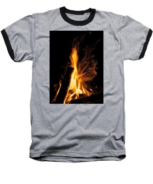 Set The Night On Fire Baseball T-Shirt by Jane Eleanor Nicholas