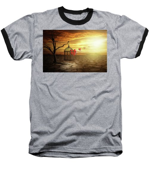 Baseball T-Shirt featuring the digital art Set Your Self Free by Nathan Wright