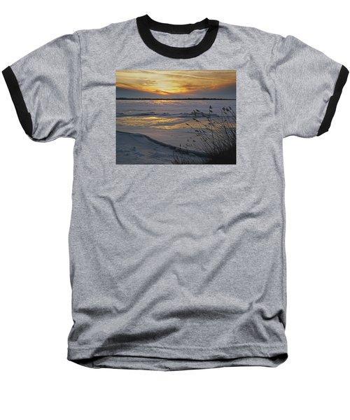 Baseball T-Shirt featuring the photograph Setting Sun by Judy Johnson