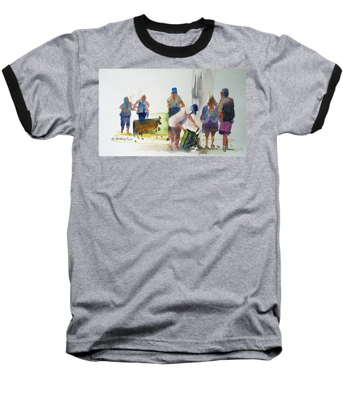 Setting Up Baseball T-Shirt by P Anthony Visco