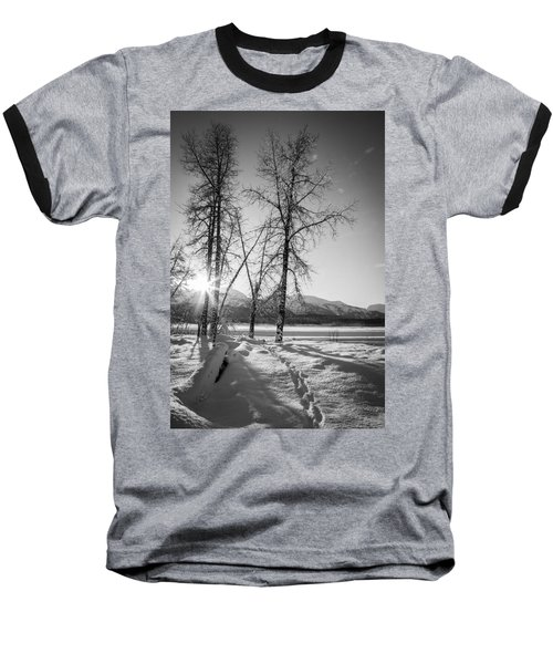 Setting Winter Sun Baseball T-Shirt by Michele Cornelius