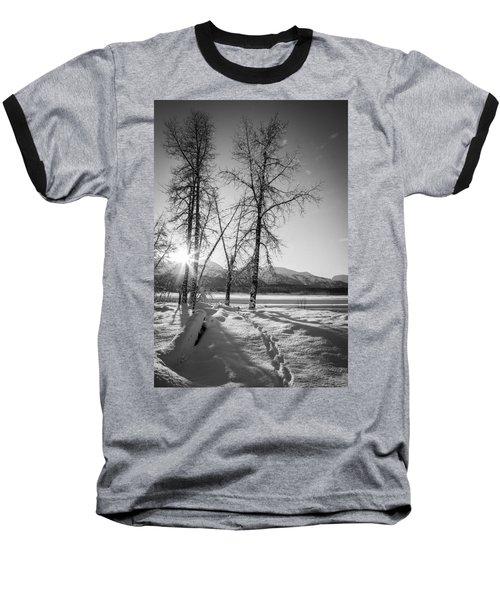 Setting Winter Sun Baseball T-Shirt