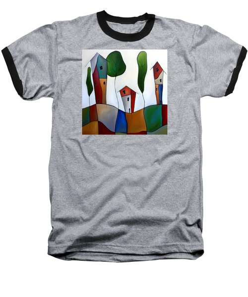 Settling Down Baseball T-Shirt by Tom Fedro - Fidostudio