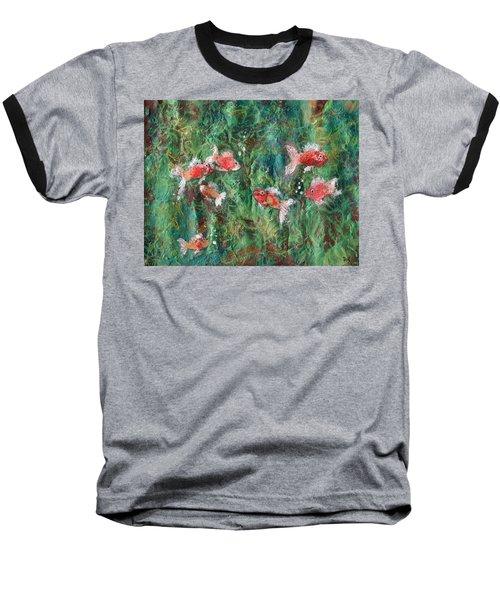 Seven Little Fishies Baseball T-Shirt