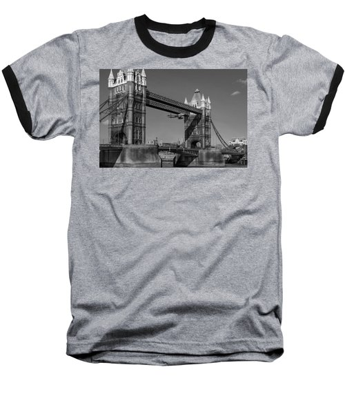 Seven Seconds - The Tower Bridge Hawker Hunter Incident Bw Versio Baseball T-Shirt