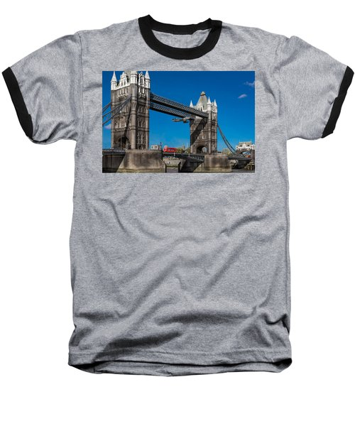 Baseball T-Shirt featuring the photograph Seven Seconds - The Tower Bridge Hawker Hunter Incident  by Gary Eason