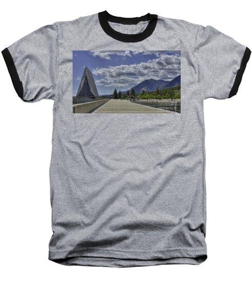 Seventeen Spires Baseball T-Shirt by David Bearden