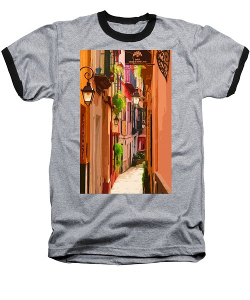 Seville, Colorful Spain Baseball T-Shirt