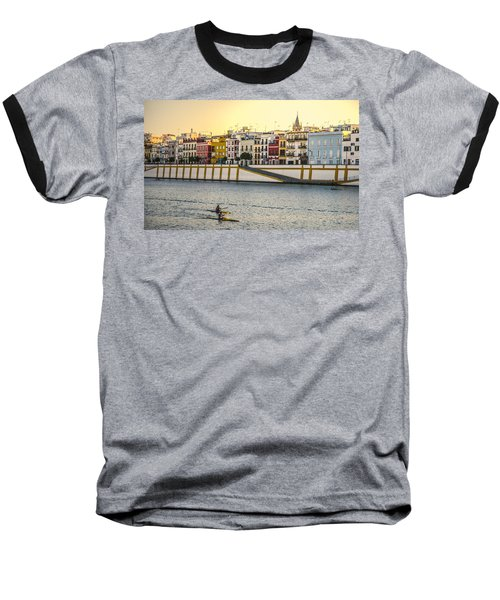 Seville - Sunset In Calle Betis Baseball T-Shirt