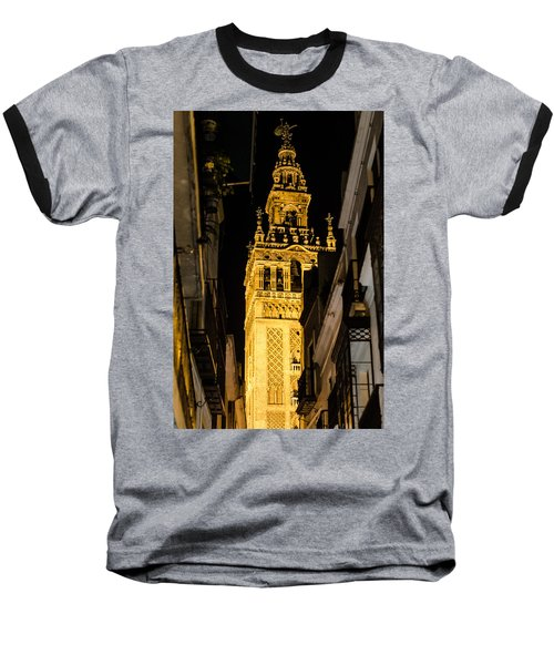 Seville - The Giralda At Night  Baseball T-Shirt