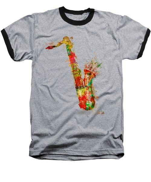Sexy Saxaphone Baseball T-Shirt
