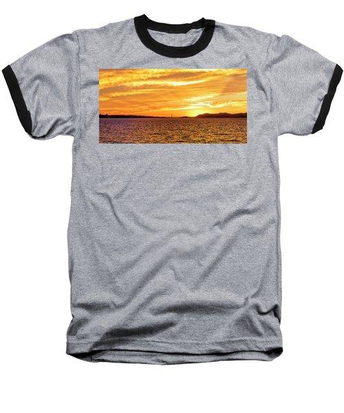 Sf Bay Area Sunset Baseball T-Shirt