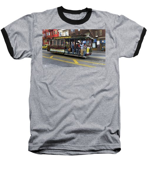 Sf Cable Car Powell And Mason Sts Baseball T-Shirt