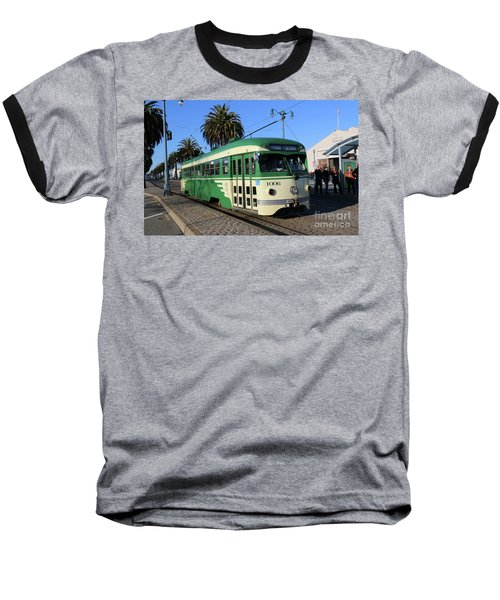 Sf Muni Railway Trolley Number 1006 Baseball T-Shirt