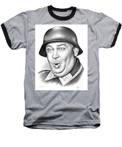 Sgt Schultz Baseball T-Shirt by Greg Joens