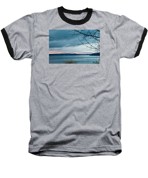 Shades Of Blue As Night Falls Baseball T-Shirt